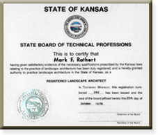 Great State Of Kansas Registered Landscape Architect Certification